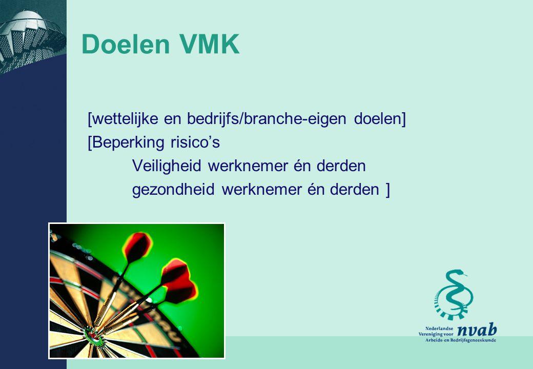 Doelen VMK [wettelijke en bedrijfs/branche-eigen doelen]